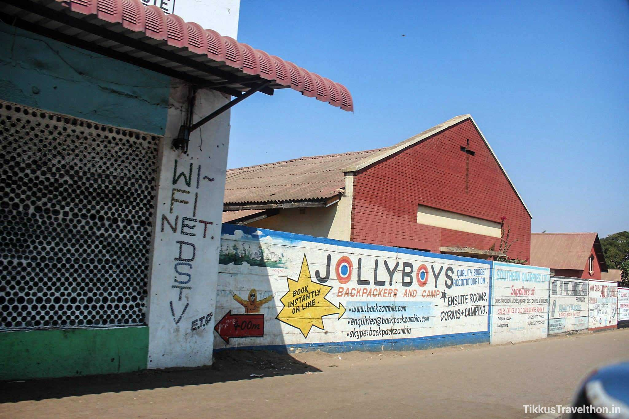Contemporary wall art advertising - Livingstone, Zambia - September 2016