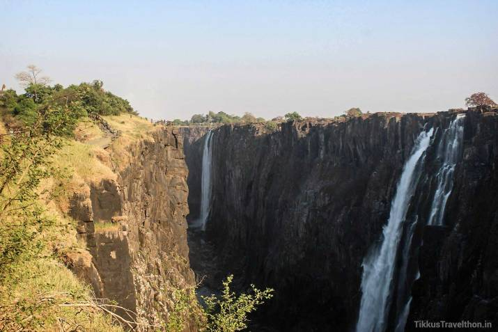 The Gorges at the Falls - Victoria Falls are roughly twice the height of North America's Niagara Falls!