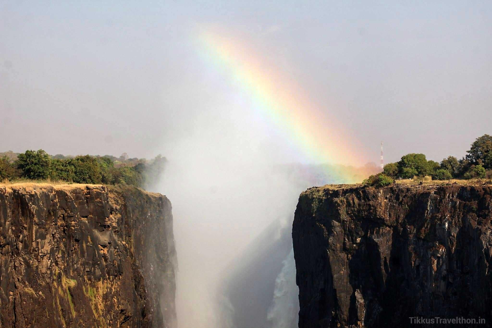 The Rainbow at the Falls of Victoria - Livingstone, Zambia