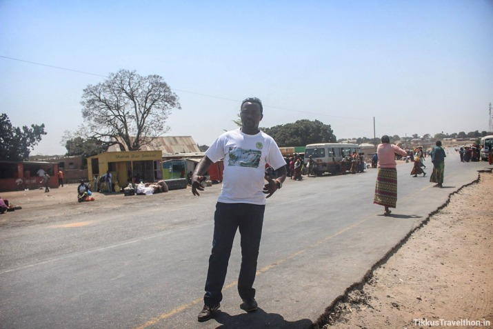 On the Road, Nick and I, Lusaka to Livingstone - September 2016