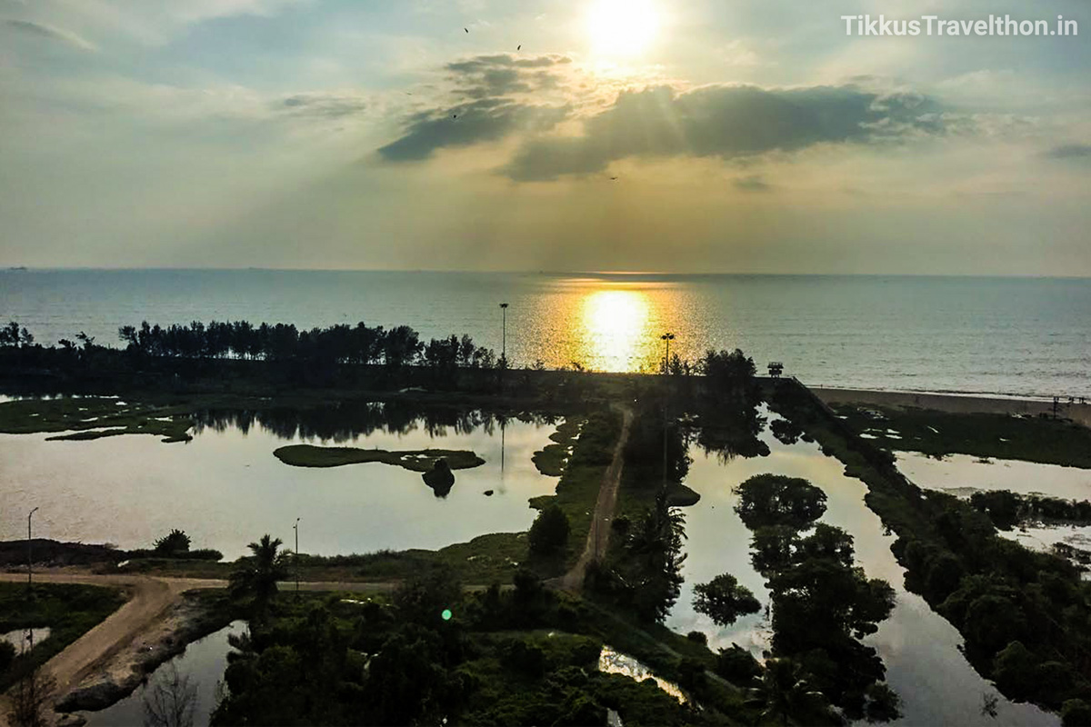 A stunning view from the Lighthouse into the texture of Kochi.