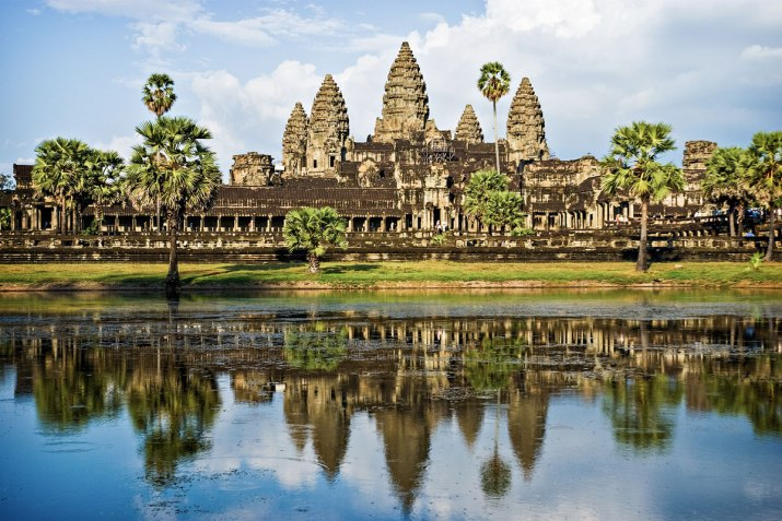 Angkor Wat in Cambodia. The largest religious monument in the world.