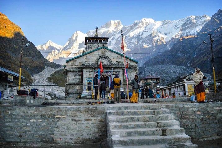 The Kedarnath Mandir in Uttarakhand dedicated to Bhagwan Shiva.