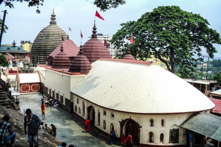 Kamakhya Temple in Assam where Sati's yoni had fallen.