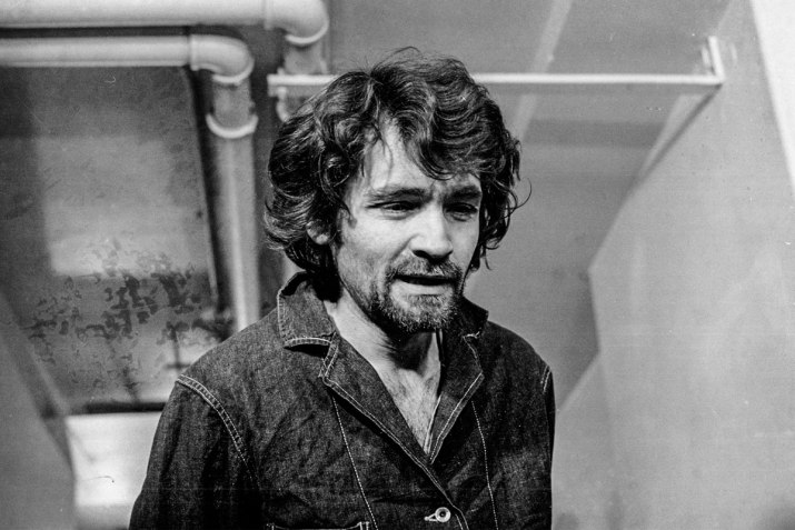 A photo of Charles Manson, the man behind the Manson Murders.