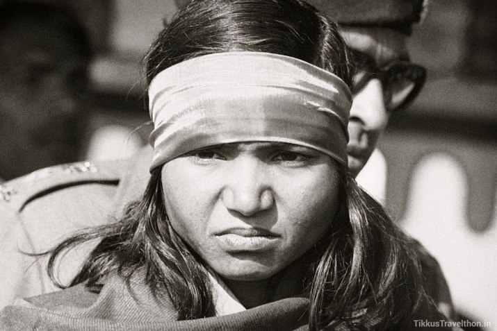 A picture of Phoolan Devi, the bandit queen.