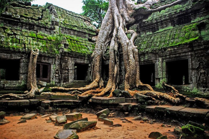 The mysterious interiors of Angkor Wat.