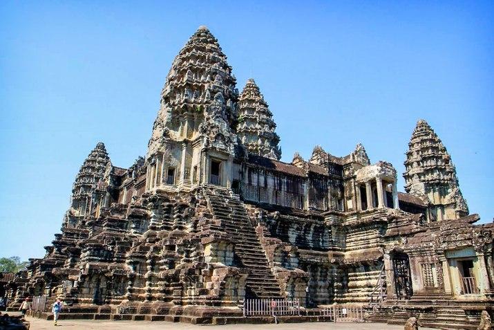 Angkor Wat up close.