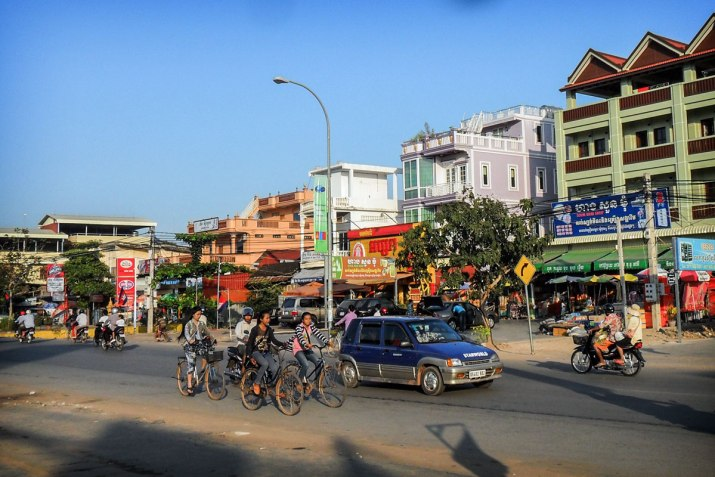 The busy streets of Siem Reap.