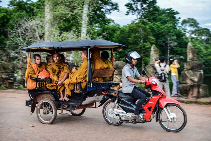 A tuk-tuk at Siem Reap. The common mode of transport for many in the region.