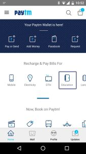 Inside the Paytm App on mobile.